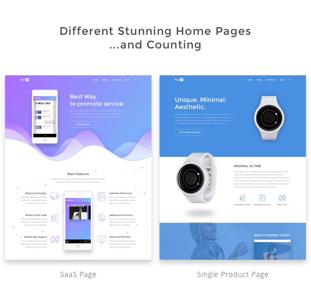 Different Stunning Home Pages... and Counting